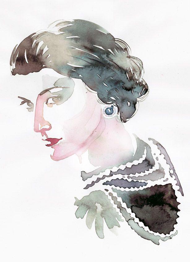 Gabrielle Coco Chanel, by Samantha Hahn - http://www.samanthahahn.com/blog/2014/08/19/coco-chanels-birthday/