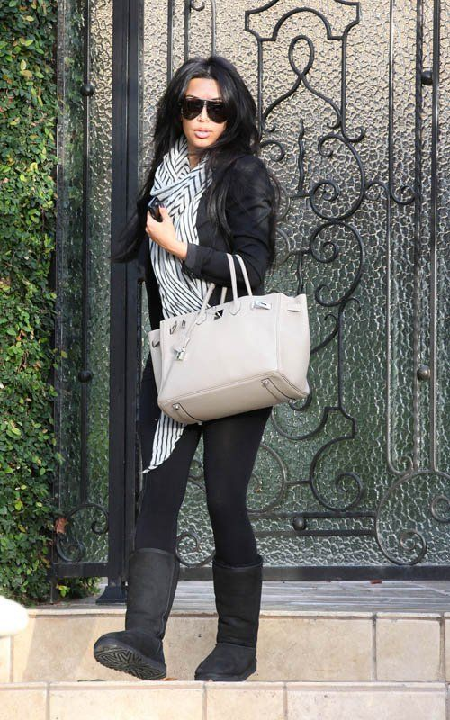 Casual Winter outfit(: my girl KimK always fab!