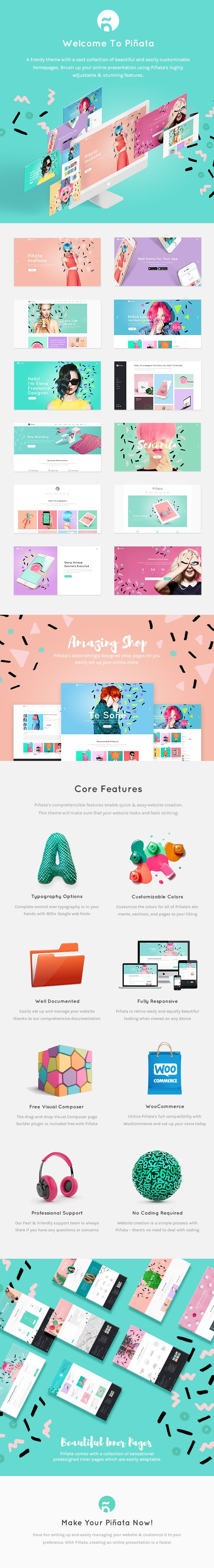 Piñata - A Fun, Vibrant Theme for Creative Agencies & Freelancers #creative #design #freelance • Download ➝ https://themeforest.net/item/piata-a-fun-vibrant-theme-for-creative-agencies-freelancers/19082679?ref=pxcr
