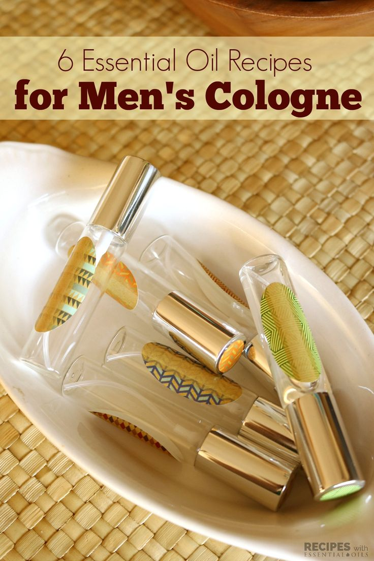 6 Essential Oil Recipes for Mens Cologne from RecipeswithEssentialOils.com