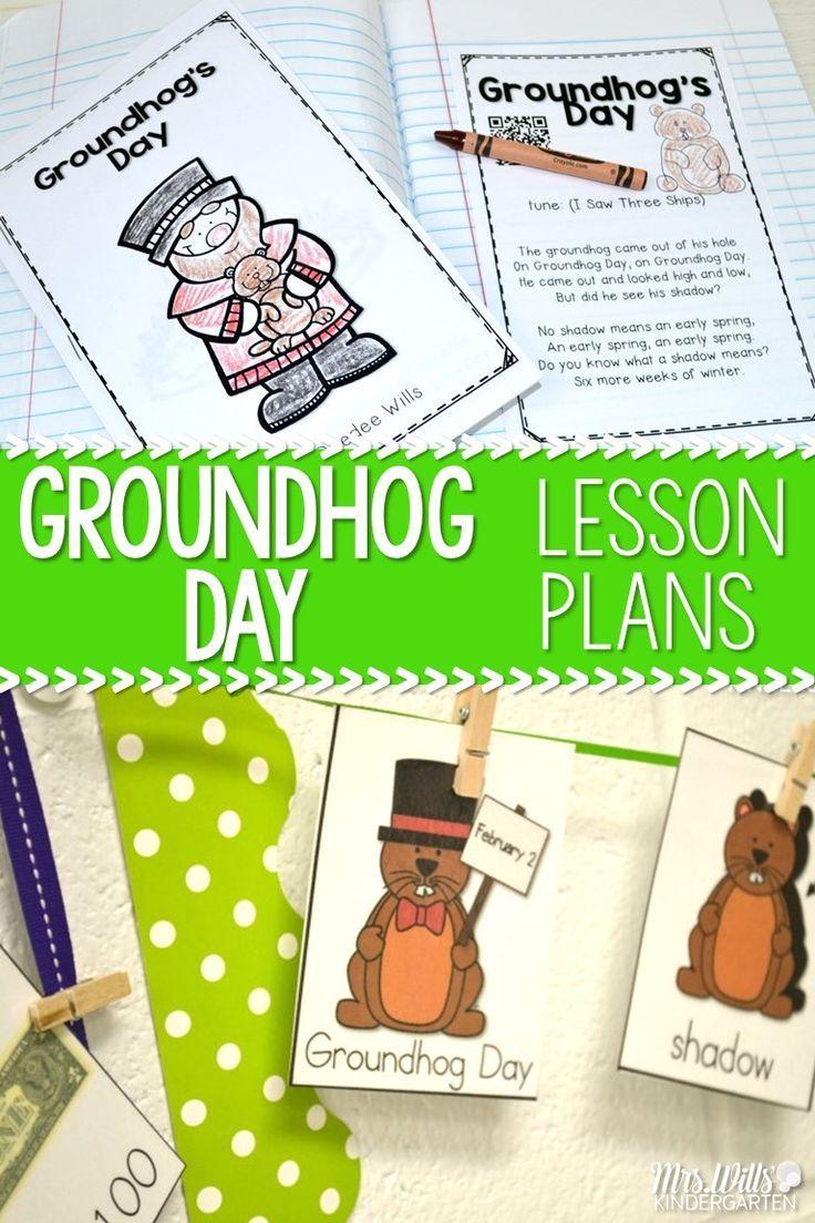 Groundhog day lessons kindergarten