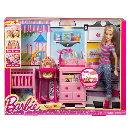 Barbie Careers Babysitter Doll And Playset Barbie Dolls