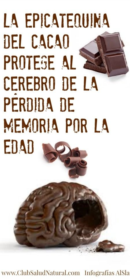 El Chocolate Protege los Recuerdos - Club Salud Natural #cacao #chocolate, comeré chocolate.