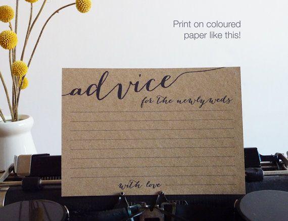 25+ Best Ideas About Wedding Advice Cards On Pinterest