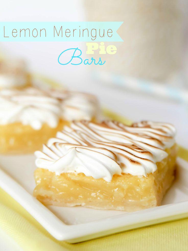 Lemon Meringue Pie Bars - Confessions of a Cookbook Queen