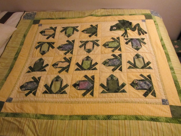 1000 Images About Frog Quilt On Pinterest Paper Other