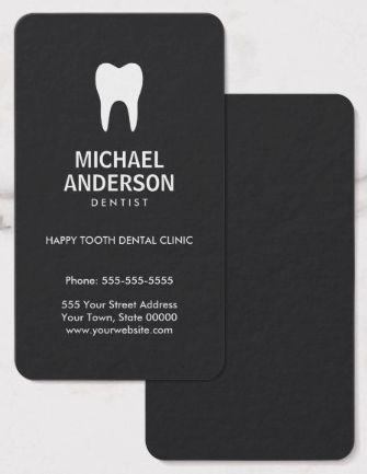 36 best dental business cards images on pinterest dental business dentist or dental assistant modern dark gray business card colourmoves