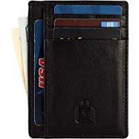 Le Craf RFID genuine Leather Credit card holder for Men/Women Front Pocket Slim …