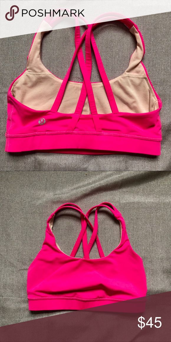 🌸lululemon hot pink strappy sports bras Like new, only took out cups, never wore it. Size 4   🌸🌸this is part of my LULU blowout🌸🌸 🌸🌸🌸price is firm-my opinion a STELLAR deal  🤪🤪🤪🤪if you MUST have the piece MAYYYYYYYYYBE I'll give in a lil🤪🤘🏻😘😘😘  🌸‼️🌸LULU blowout will have up to 35 NEW listings, check out the rest of my closet ladies, BLOWOUT will not last...just because I love my collection so much 😋😛😜🤪 lululemon athletica Tops