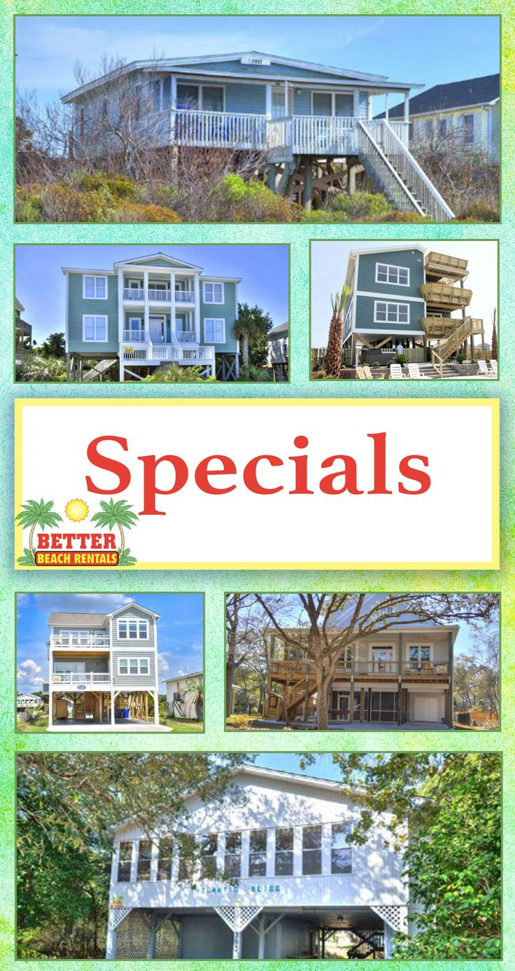 Wow!!! Check out these amazing Oak Island, NC beach vacation rental SPECIALS! They are too good to pass up!