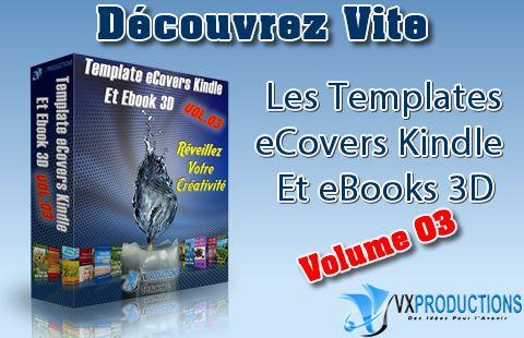 Pack Templates Ecovers pour Kindle et Ebook 3D Volume 3