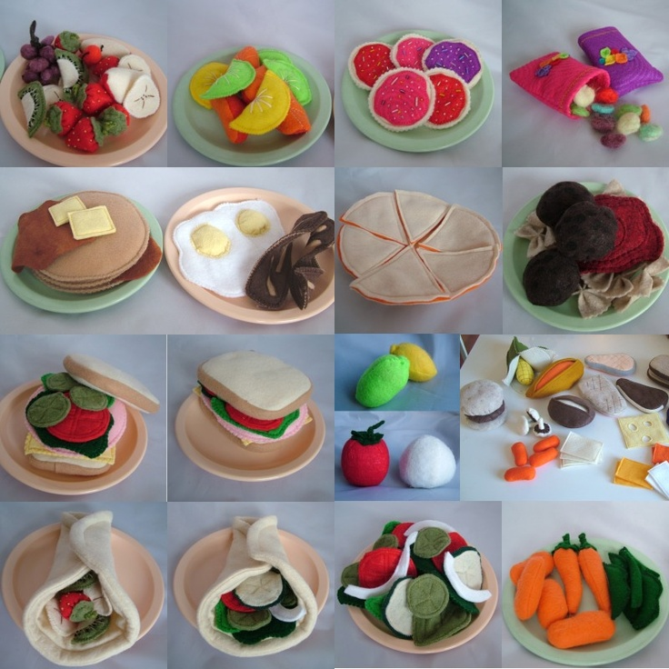 All Twisted Up: Tutorials, Recipes & Patterns= Felt Food