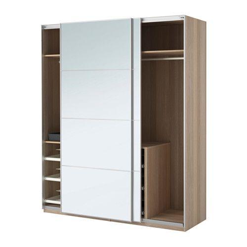 IKEA - PAX, Garderobekast, 200x66x236 cm, zachtsluitend beslag, , Gratis 10 jaar garantie. Raadpleeg onze folder voor de garantievoorwaarden.Deze kant-en-klare PAX/KOMPLEMENT-oplossing is met de PAX-planner makkelijk aan te passen aan je behoefte en smaak.Met schuifdeuren heb je meer ruimte voor meubels omdat ze geopend geen ruimte in beslag nemen.Houdt deuren tegen zodat ze langzaam, stil en zacht dichtgaan.Wil je de binnenkant op orde houden, dan kan je het geheel completeren met…