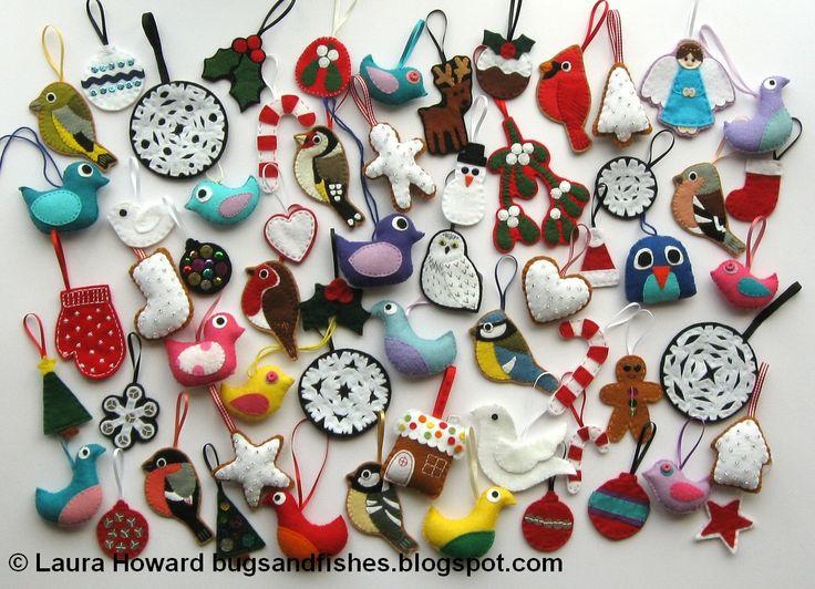 Felt Christmas decoration ideas