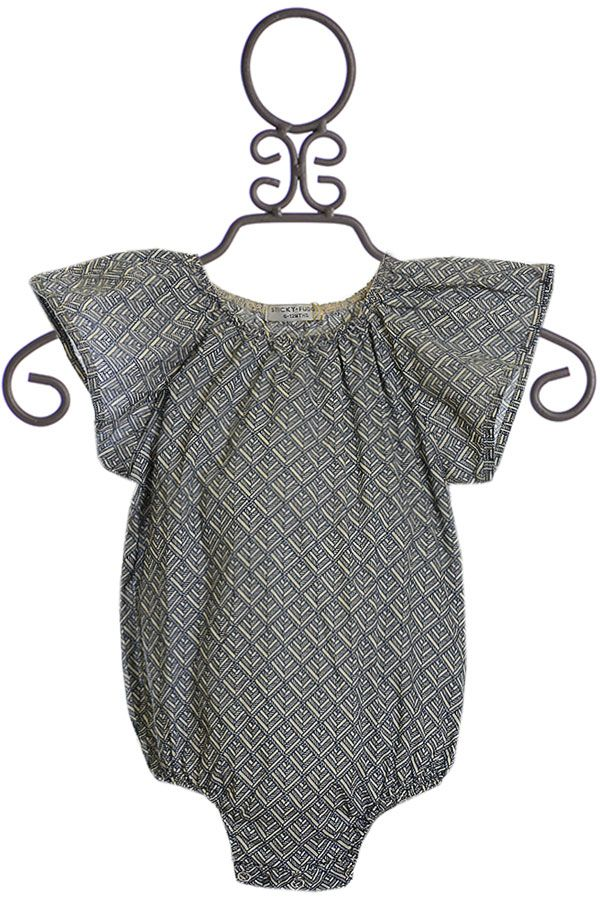 Sticky Fudge Romper with Flutter Sleeve (3-6Mos & 6-12Mos)