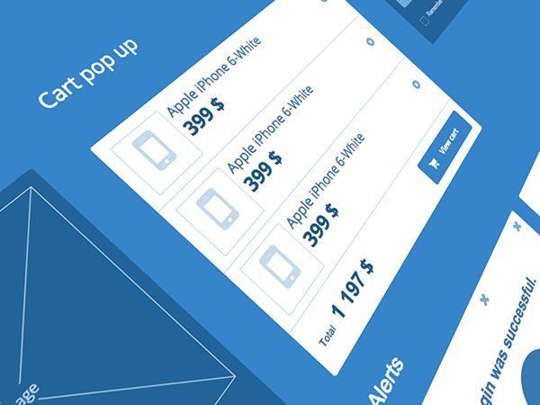 Blueprint UI kit for Axure on Behance