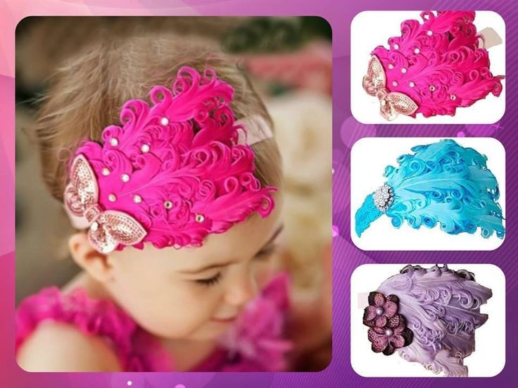 Feather Headbands Blue / Pink / Purple #RazzleDazzleMe