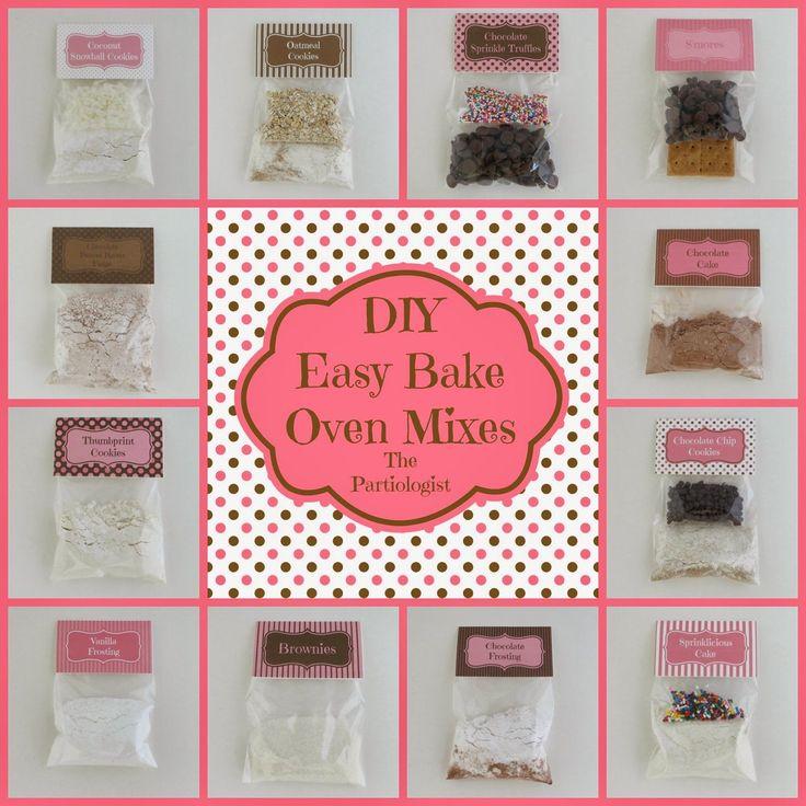 The Partiologist: DIY Easy Bake Oven Mixes!