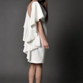 sukienka koktajlowa,  GŁĘBOKI DEKOLT