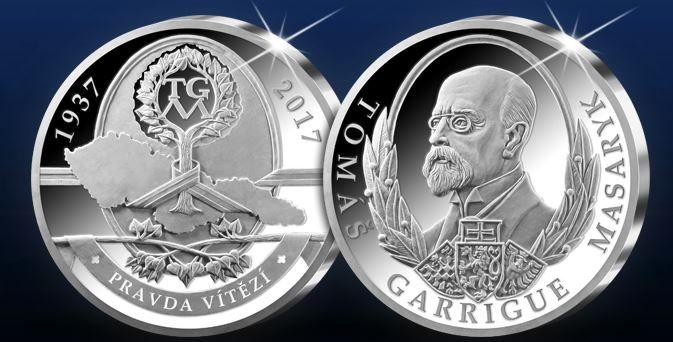 80. výročie - T. G. Masaryk - Nádherná pamätná medaila, ktorú nájdete exkluzívne len v ponuke Národnej Pokladnice, je vyrazená do rýdzeho striebra 999/1000.