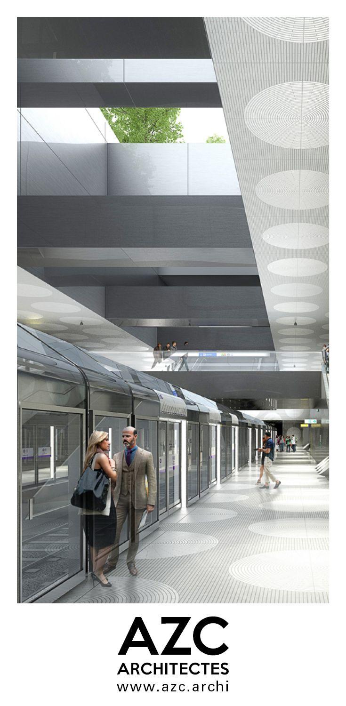 Quatre Nouvelle Stations De Metro Ligne 14 A Paris Pont