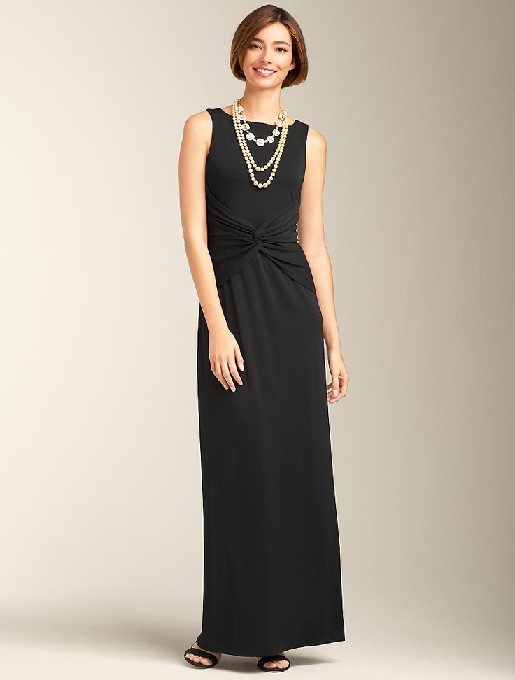 Talbots - Matte Jersey Gown | Dresses