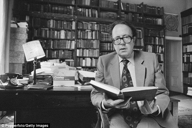 British academic Richard Pankhurst pictured sitting in a library in London in 1979