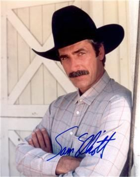 """Sam Elliott: """"I'm a Texan at heart, like he was,"""" he said. """"All my family's from Texas. My great-great-great-grandfather was a surgeon at the Battle of San Jacinto. My great-great-grandfather was a Texas Ranger. My father was in the Fish and Wildlife Service - he started out trapping gophers in Marfa and later had jurisdiction over three states. He and my mother moved from El Paso to Sacramento just before I was born, so I grew up in California, later Oregon."""""""