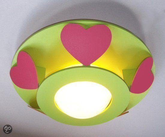 Funnylight Fuschsia Hartjes - Plafonniere - Lime