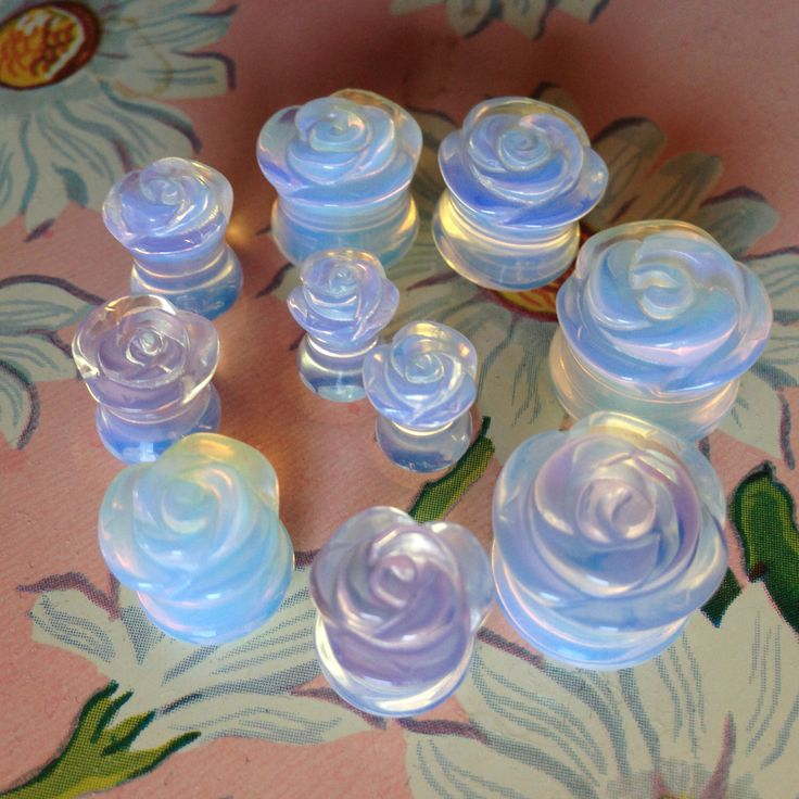 "BACK IN STOCK! Rose Carved Opalite Stone Plugs 2g 0g 00g 1/2"" (12mm) 9/16"" (14mm) 5/8"" (16mm) by Tarqs on Etsy https://www.etsy.com/listing/206683495/back-in-stock-rose-carved-opalite-stone"