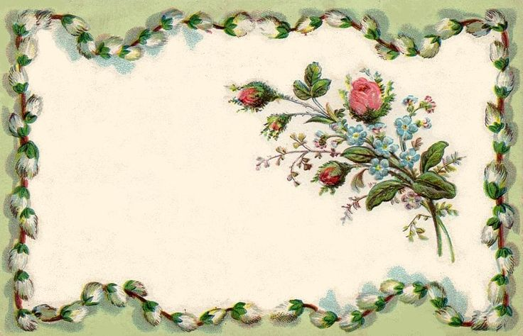 bumble button: Gorgeous antique French postcards with tiny rose buds and violets. Free Victorian and Edwardian era