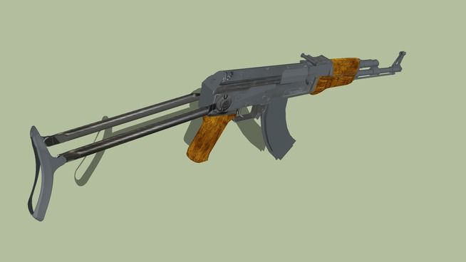 Large preview of 3D Model of AK 47