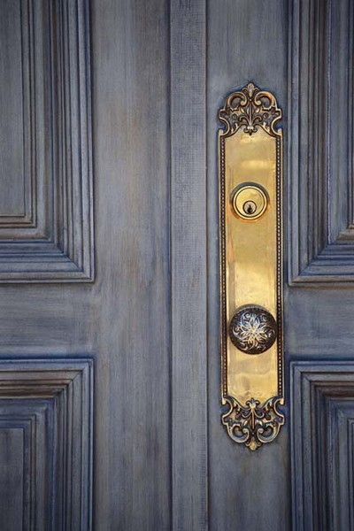 I LOVE everything about this door!!!  Hardware would look Stunning in antiqued silver!!