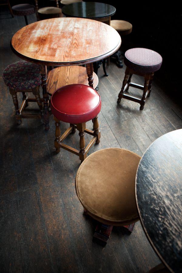 The surroundings of a 'proper' British pub.