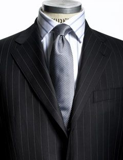 Black Suit With White Stripes | Tulips Clothing