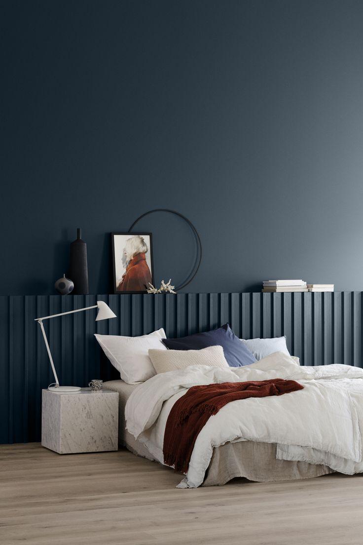 Vägg målad med LADY 5455 Industrial Blue