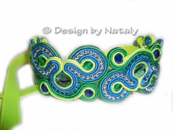 OOAK Soutache Jewelry Bracelet by DesignByNataly on Etsy, $30.00