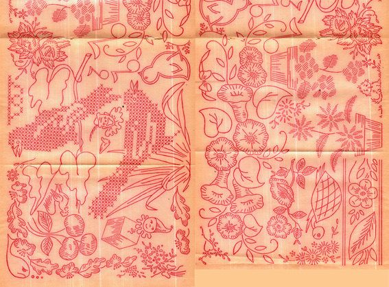 Genuine Antique Vintage 1950s 'Images Galore!' Embroidery Sewing Iron-On Transfer Unused..WHOLE VARIETY! Lookx