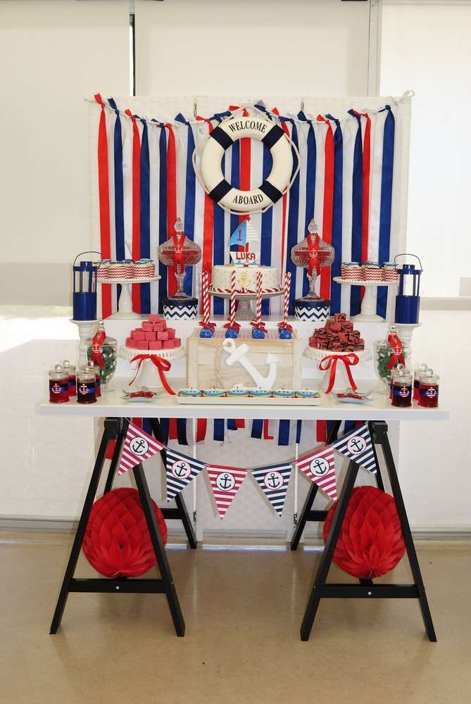 Nautical Birthday Party Ideas | Photo 11 of 11 | Catch My Party