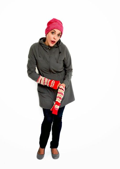 Paper People Clothing: Gwen's Got Style! Hat - Tuque - Upcycled - Reclaimed Vintage - Eco Fashion - Winter Accessories - Cashmere - Angora - Merino - Pink - Modrobes - Arm Warmers - Leg Warmers - Red