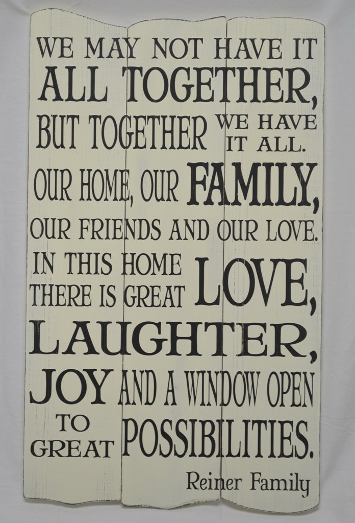 Family Quote - Custom Subway Style Panel Sign - Shabby Chic, Rustic, Antique. $60.00, via Etsy.