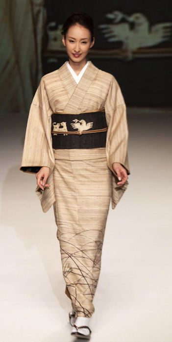 # 10: Yukiko Hanai designed this silk kimono and obie. 2012, Japan