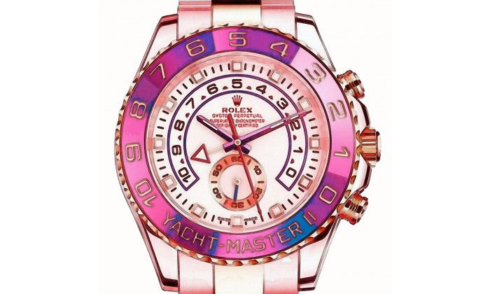 Yacht Master II WATERCOLOR PINK Watch On White - Limited Edition of 20 only