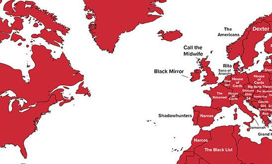 This Map Shows the Most Popular Netflix Show in the World, and It's Not What You Think