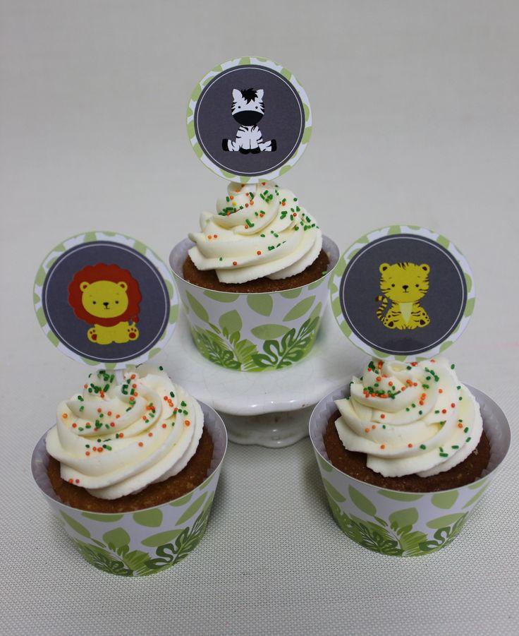 Jungle - Selva Cupcakes  Violeta Glace