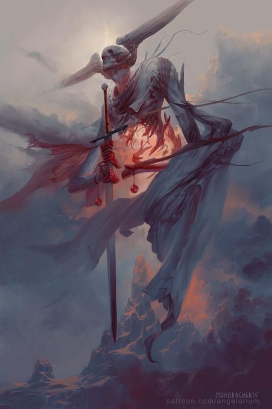 gorgeous Angelarium - Gevurah, Photoshop, 12x18 Check more at http://weirdhood.com/art/30-artworks-march-2015/