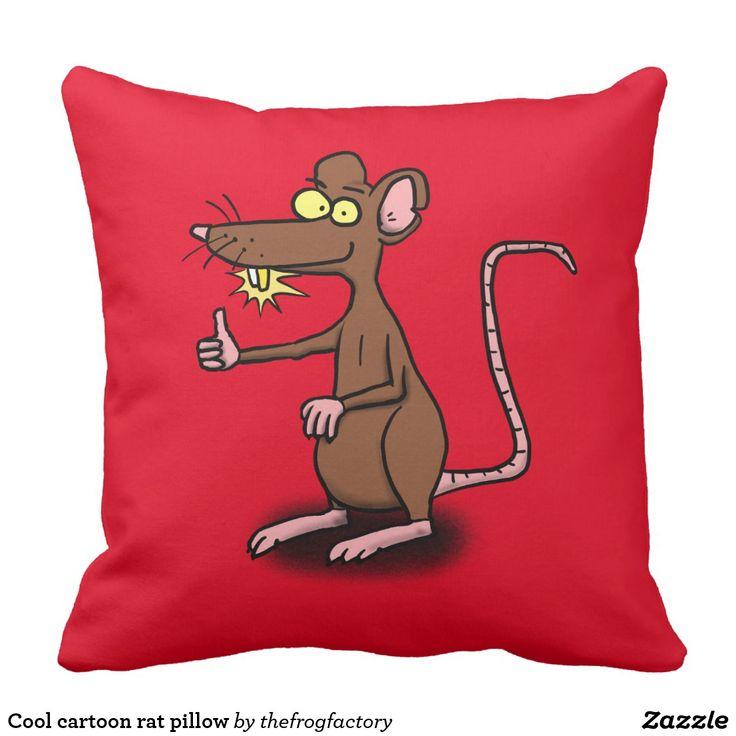 Cool cartoon rat pillow