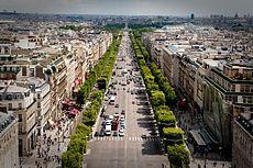 Champs élysées est rue dans Paris. Il y a beaucoup grand magasins et resturants.