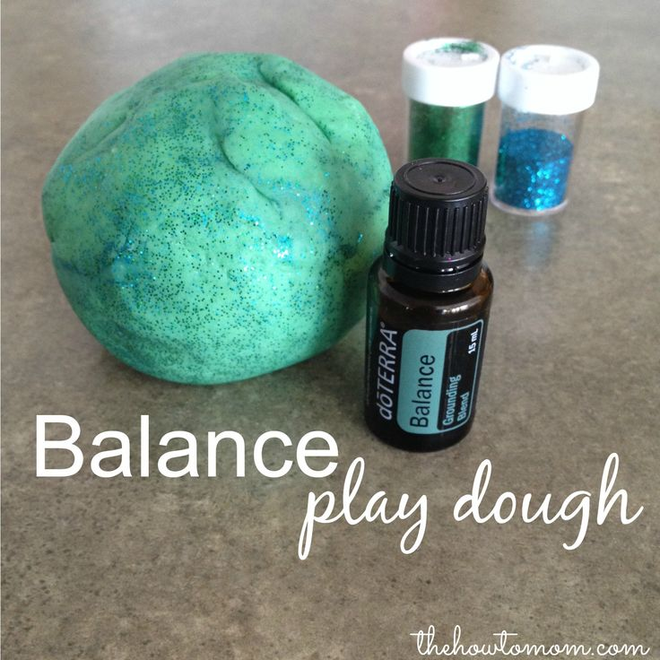 Balance Play Dough - a great calming activity for kids and adults! via The How To Mom