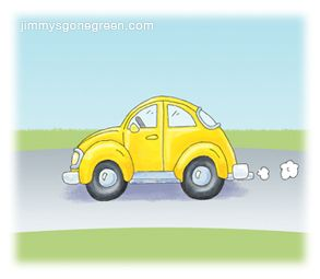 Green Fact: Did you know? Cars and trucks account for more than one-fifth of U.S. greenhouse gases. Source: http://goo.gl/HyEfUP #AirPollution #EnvironmentalEducation #JimmysGoneGreen